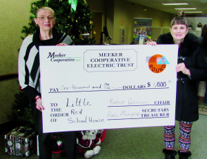 Meeker Cooperative Round Up Grant for $1000